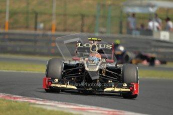 © 2012 Octane Photographic Ltd. Hungarian GP Hungaroring - Saturday 28th July 2012 - F1 Practice 3. Lotus E20 - Romain Grosjean. Digital Ref : 0429lw1d6809
