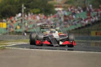 © 2012 Octane Photographic Ltd. Hungarian GP Hungaroring - Saturday 28th July 2012 - F1 Practice 3. HRT F112 - Pedro de La Rosa. Digital Ref : 0429lw1d6859