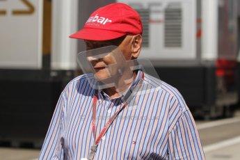 © 2012 Octane Photographic Ltd. Hungarian GP Hungaroring - Saturday 28th July 2012 - F1 Practice 3. Niki Lauda. Digital Ref : 0429lw7d5993
