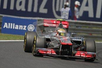 © 2012 Octane Photographic Ltd. Hungarian GP Hungaroring - Friday 27th July 2012 - F1 Practice 2. McLaren MP4/27 - Lewis Hamilton. Digital Ref : 0429lw7d6382