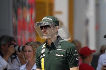 © 2012 Octane Photographic Ltd. Hungarian GP Hungaroring - Sunday 29th July 2012 - F1 Paddock. Caterham - Vitaly Petrov. Digital Ref : 0437lw7d8307