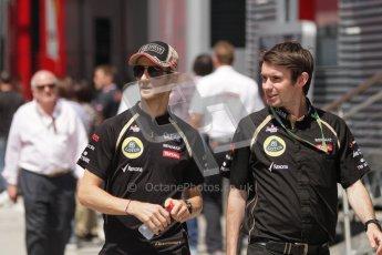 © 2012 Octane Photographic Ltd. Hungarian GP Hungaroring - Sunday 29th July 2012 - F1 Paddock. Lotus - Romain Grosjean. Digital Ref : 0437lw7d8307