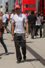 © 2012 Octane Photographic Ltd. Hungarian GP Hungaroring - Sunday 29th July 2012 - F1 Paddock. McLaren - Jenson Button. Digital Ref : 0437lw7d8420