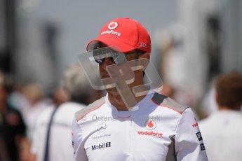 © 2012 Octane Photographic Ltd. Hungarian GP Hungaroring - Sunday 29th July 2012 - F1 Paddock. McLaren - Jenson Button. Digital Ref : 0437lw7d8426