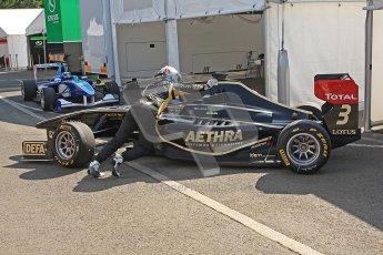 © 2012 Octane Photographic Ltd. Hungarian GP Hungaroring - Saturday 27th July 2012 - GP3 Paddock. Lotus GP - Aaro Vainio. Digital Ref : 0424cb40d7714