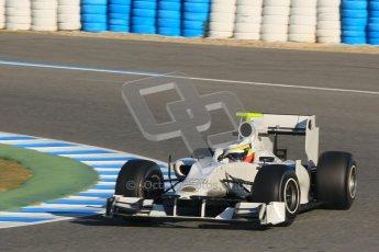 © 2012 Octane Photographic Ltd. Jerez Winter Test Day 1 - Tuesday 7th February 2012. HRT F111 - Pedro de la Rosa. Digital Ref : 0217lw7d3169
