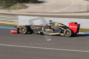 © 2012 Octane Photographic Ltd. Jerez Winter Test Day 1 - Tuesday 7th February 2012. Lotus E20 - Kimi Raikkonen. Digital Ref : 0217lw7d3361