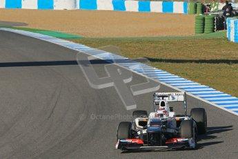 © 2012 Octane Photographic Ltd. Jerez Winter Test Day 1 - Tuesday 7th February 2012. Sauber C31 - Kamui Kobayashi. Digital Ref : 0217lw7d3441