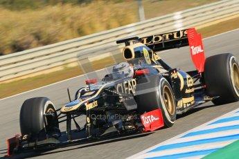 © 2012 Octane Photographic Ltd. Jerez Winter Test Day 1 - Tuesday 7th February 2012. Lotus E20 - Kimi Raikkonen. Digital Ref : 0217lw7d4189