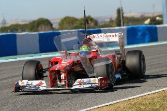 © 2012 Octane Photographic Ltd. Jerez Winter Test Day 1 - Tuesday 7th February 2012. Ferrari F2012 - Felipe Massa. Digital Ref : 0217lw7d4267