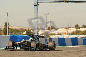 © 2012 Octane Photographic Ltd. Jerez Winter Test Day 1 - Tuesday 7th February 2012. Caterham CT01 - Heikki Kovalainen. Digital Ref : 0217lw7d4341