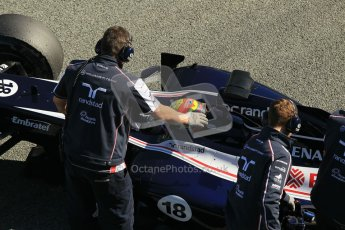 © 2012 Octane Photographic Ltd. Jerez Winter Test Day 1 - Tuesday 7th February 2012. Williams FW34 - Pastor Maldonado. Digital Ref : 0217lw7d4518