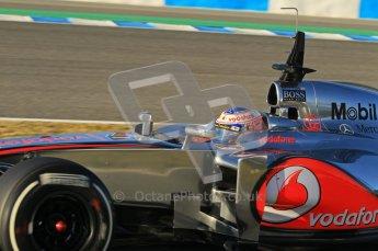 © 2012 Octane Photographic Ltd. Jerez Winter Test Day 2 - Wednesday 8th February 2012. McLaren MP4/27 - Jenson Button. Digital Ref : 0218lw1d5411