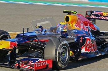 © 2012 Octane Photographic Ltd. Jerez Winter Test Day 2 - Wednesday 8th February 2012. Red Bull RB8 - Mark Webber. Digital Ref : 0218lw1d5437