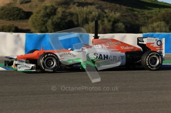 © 2012 Octane Photographic Ltd. Jerez Winter Test Day 2 - Wednesday 8th February 2012. Force India VJM05 - Jules Bianchi. Digital Ref : 0218lw1d5443