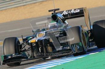 © 2012 Octane Photographic Ltd. Jerez Winter Test Day 2 - Wednesday 8th February 2012. Caterham CT01 - Heikki Kovalainen. Digital Ref : 0218lw1d5609