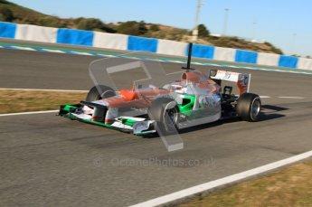 © 2012 Octane Photographic Ltd. Jerez Winter Test Day 2 - Wednesday 8th February 2012. Force India VJM05 - Jules Bianchi. Digital Ref : 0218lw7d3483