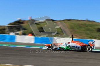 © 2012 Octane Photographic Ltd. Jerez Winter Test Day 2 - Wednesday 8th February 2012. Force India VJM05 - Jules Bianchi. Digital Ref : 0218lw7d3519