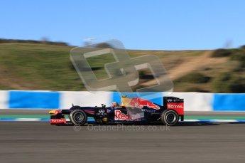 © 2012 Octane Photographic Ltd. Jerez Winter Test Day 2 - Wednesday 8th February 2012. Red Bull RB8 - Mark Webber. Digital Ref : 0218lw7d3535