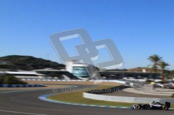© 2012 Octane Photographic Ltd. Jerez Winter Test Day 2 - Wednesday 8th February 2012. Williams FW34 - Pastor Maldonado. Digital Ref :  0218lw7d3582