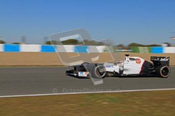 © 2012 Octane Photographic Ltd. Jerez Winter Test Day 2 - Wednesday 8th February 2012. Sauber C31 - Sergio Perez. Digital Ref :  0218lw7d3748