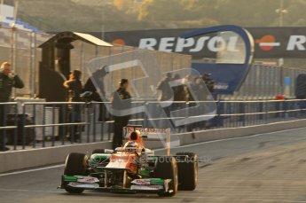 © 2012 Octane Photographic Ltd. Jerez Winter Test Day 3 - Thursday 9th February 2012. Force India VJM05 - Jules Bianchi. Digital Ref : 0219lw1d6148
