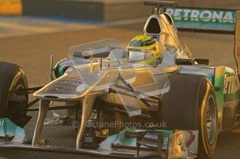 © 2012 Octane Photographic Ltd. Jerez Winter Test Day 3 - Thursday 9th February 2012. Mercedes MGP W02 - Nico Rosberg. Digital Ref : 0219lw1d6204