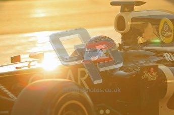 © 2012 Octane Photographic Ltd. Jerez Winter Test Day 3 - Thursday 9th February 2012. Lotus E20 - Romain Grosjean. Digital Ref : 0219lw1d6214