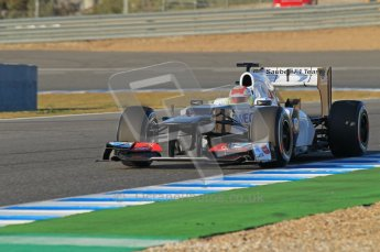© 2012 Octane Photographic Ltd. Jerez Winter Test Day 3 - Thursday 9th February 2012. Sauber C31 - Sergio Perez. Digital Ref : 0219lw1d6459