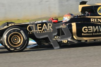 © 2012 Octane Photographic Ltd. Jerez Winter Test Day 3 - Thursday 9th February 2012. Lotus E20 - Romain Grosjean. Digital Ref : 0219lw1d6664