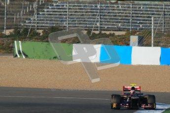 © 2012 Octane Photographic Ltd. Jerez Winter Test Day 3 - Thursday 9th February 2012. Toro Rosso STR7 - Jean-Eric Vergne. Digital Ref : 0219lw1d6894