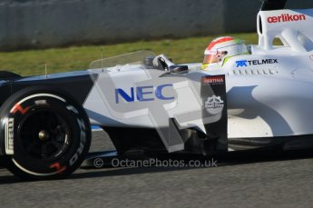 © 2012 Octane Photographic Ltd. Jerez Winter Test Day 3 - Thursday 9th February 2012. Sauber C31 - Sergio Perez. Digital Ref : 0219lw1d6955