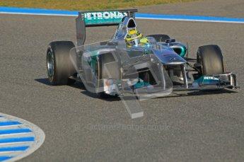 © 2012 Octane Photographic Ltd. Jerez Winter Test Day 3 - Thursday 9th February 2012. Mercedes MGP W02 - Nico Rosberg. Digital Ref : 0219lw1d7005