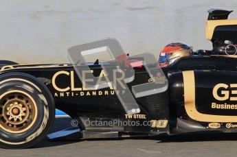 © 2012 Octane Photographic Ltd. Jerez Winter Test Day 3 - Thursday 9th February 2012. Lotus E20 - Romain Grosjean. Digital Ref : 0219lw1d7046