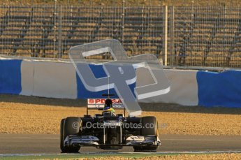 © 2012 Octane Photographic Ltd. Jerez Winter Test Day 3 - Thursday 9th February 2012. Williams FW34 - Bruno Senna. Digital Ref : 0219lw1d7101