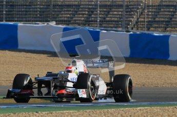 © 2012 Octane Photographic Ltd. Jerez Winter Test Day 3 - Thursday 9th February 2012. Sauber C31 - Sergio Perez. Digital Ref : 0219lw1d7143