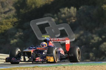 © 2012 Octane Photographic Ltd. Jerez Winter Test Day 3 - Thursday 9th February 2012. Toro Rosso STR7 - Jean-Eric Vergne. Digital Ref : 0219lw1d7427
