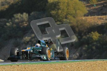 © 2012 Octane Photographic Ltd. Jerez Winter Test Day 3 - Thursday 9th February 2012. Caterham CT01 - Giedo van der Garde. Digital Ref : 0219lw1d7452