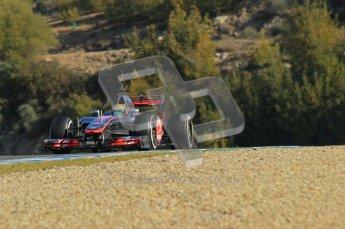 © 2012 Octane Photographic Ltd. Jerez Winter Test Day 3 - Thursday 9th February 2012. McLaren MP4/27 - Lewis Hamilton. Digital Ref : 0219lw1d7564