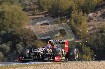 © 2012 Octane Photographic Ltd. Jerez Winter Test Day 3 - Thursday 9th February 2012. Lotus E20 - Romain Grosjean. Digital Ref : 0219lw1d7623