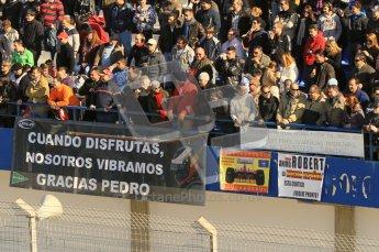 © 2012 Octane Photographic Ltd. Jerez Winter Test Day 3 - Thursday 9th February 2012. Crowds - de la Rosa and Kubica fans. Digital Ref : 0219lw1d7685