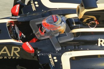 © 2012 Octane Photographic Ltd. Jerez Winter Test Day 3 - Thursday 9th February 2012. Lotus E20 - Romain Grosjean. Digital Ref : 0219lw1d7854
