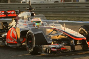 © 2012 Octane Photographic Ltd. Jerez Winter Test Day 4 - Friday 10th February 2012. McLaren MP4/27 - Lewis Hamilton. Digital Ref : 0221lw1d8043