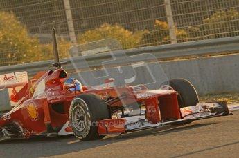 © 2012 Octane Photographic Ltd. Jerez Winter Test Day 4 - Friday 10th February 2012. Ferrari F2012 - Fernando Alonso. Digital Ref : 0221lw1d8107