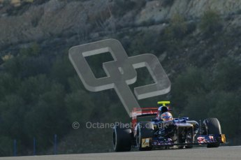 © 2012 Octane Photographic Ltd. Jerez Winter Test Day 4 - Friday 10th February 2012. Toro Rosso STR7 - Jean-Eric Vergne. Digital Ref : 0221lw1d8585