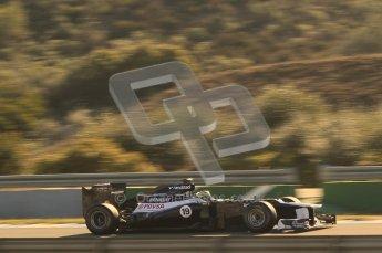 © 2012 Octane Photographic Ltd. Jerez Winter Test Day 4 - Friday 10th February 2012. Williams FW34 - Bruno Senna. Digital Ref : 0221lw1d9065