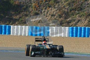 © 2012 Octane Photographic Ltd. Jerez Winter Test Day 4 - Friday 10th February 2012. Caterham CT01 - Jarno Trulli. Digital Ref : 0221lw1d9166