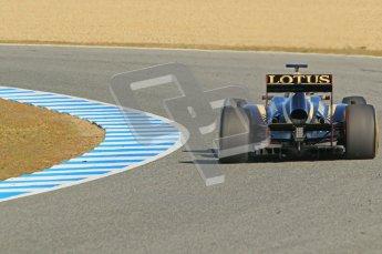 © 2012 Octane Photographic Ltd. Jerez Winter Test Day 4 - Friday 10th February 2012. Lotus E20 - Romain Grosjean. Digital Ref : 0221lw1d9374