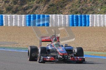 © 2012 Octane Photographic Ltd. Jerez Winter Test Day 4 - Friday 10th February 2012. McLaren MP4/27 - Lewis Hamilton. Digital Ref : 0221lw1d9518