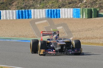 © 2012 Octane Photographic Ltd. Jerez Winter Test Day 4 - Friday 10th February 2012. Toro Rosso STR7 - Jean-Eric Vergne. Digital Ref : 0221lw1d9553